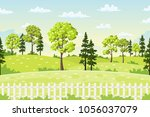 sping landscape with trees ... | Shutterstock .eps vector #1056037079