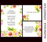 romantic invitation. wedding ... | Shutterstock . vector #1056037133