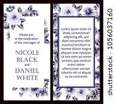romantic invitation. wedding ... | Shutterstock . vector #1056037160