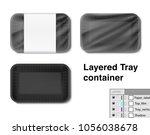 set of horizontal tray... | Shutterstock .eps vector #1056038678