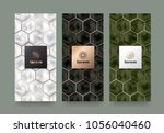 vector set packaging templates... | Shutterstock .eps vector #1056040460