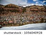 downhill skiing in telluride ...   Shutterstock . vector #1056040928
