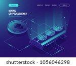 ethereum blockchain isometric ...   Shutterstock .eps vector #1056046298