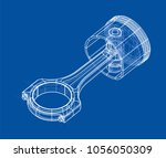 sketch of piston. vector... | Shutterstock .eps vector #1056050309
