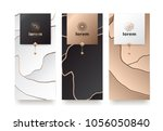 vector set packaging templates... | Shutterstock .eps vector #1056050840