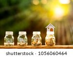loan or saving money for buy a... | Shutterstock . vector #1056060464