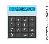 the flat calculator vector...