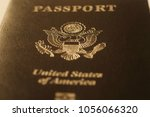 us passport cover toned blurred ... | Shutterstock . vector #1056066320