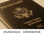 us passport cover toned blurred ... | Shutterstock . vector #1056066518