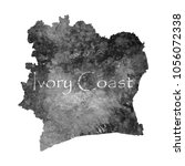 ancient map of ivory coast. old ... | Shutterstock .eps vector #1056072338
