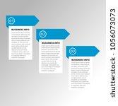 modern infographic template...   Shutterstock .eps vector #1056073073