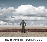 businessman in trouble in front ... | Shutterstock . vector #105607886