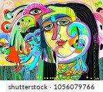 original digital art... | Shutterstock .eps vector #1056079766