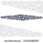 vintage baroque border frame... | Shutterstock . vector #105608009