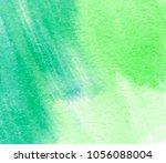 green vivid abstract aquarelle...   Shutterstock .eps vector #1056088004