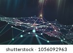 global network. blockchain. 3d... | Shutterstock . vector #1056092963