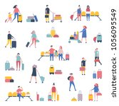set of young people in clothing ... | Shutterstock .eps vector #1056095549