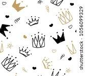 hand drawn seamless pattern... | Shutterstock .eps vector #1056099329