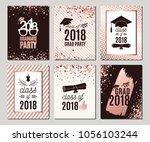 graduation class of 2018 rose... | Shutterstock .eps vector #1056103244