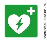 green automated external... | Shutterstock .eps vector #1056104276