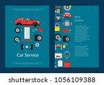 vector card  flyer or brochure... | Shutterstock .eps vector #1056109388