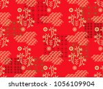 beautiful japanese seamless ... | Shutterstock .eps vector #1056109904