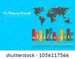 it s time to travel.trip to... | Shutterstock .eps vector #1056117566
