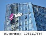 vilnius  march 27  telia logo... | Shutterstock . vector #1056117569