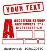 illustration of red stamp... | Shutterstock .eps vector #1056120560
