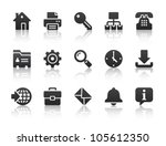 black internet icons | Shutterstock .eps vector #105612350