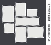 blank mailing postal sticker... | Shutterstock . vector #1056126176