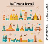 it s time to travel.trip to... | Shutterstock .eps vector #1056126266