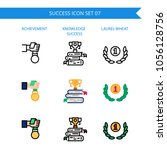 success icon set medal... | Shutterstock .eps vector #1056128756