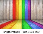 lgbt natural pattern or white... | Shutterstock . vector #1056131450