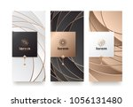 vector set packaging templates... | Shutterstock .eps vector #1056131480