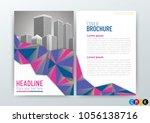 business brochure  design cover ... | Shutterstock .eps vector #1056138716