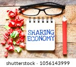 sharing economy or note... | Shutterstock . vector #1056143999