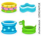 kids swimming pools vector...   Shutterstock .eps vector #1056146918