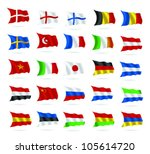 flags of the world as isolated... | Shutterstock .eps vector #105614720