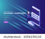 concept of cloud server data... | Shutterstock .eps vector #1056150110