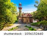 el capricho is a building  ...   Shutterstock . vector #1056152660