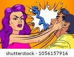 slap the relationship of men...   Shutterstock .eps vector #1056157916