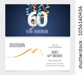 60 years anniversary invitation ... | Shutterstock .eps vector #1056160436