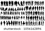 vector  isolated silhouette... | Shutterstock .eps vector #1056162896
