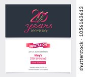 20 years anniversary invite... | Shutterstock .eps vector #1056163613