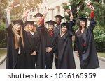 a group of multietnic graduate...   Shutterstock . vector #1056165959
