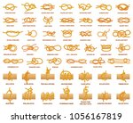 all types of knots demonstrated ... | Shutterstock .eps vector #1056167819
