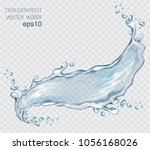 transparent vector water splash ... | Shutterstock .eps vector #1056168026