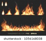 collection of realistic fire... | Shutterstock .eps vector #1056168038