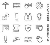 flat vector icon set   umbrella ... | Shutterstock .eps vector #1056169796